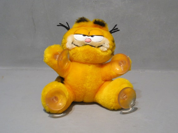 Vintage Garfield Plush Stuffed Animal Window By Milkacervenka