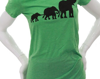 Elephant| Lightweight Soft T Shirt| Slim Fit tees| Art by Matley| Umbrella| Animal| Gift for her.