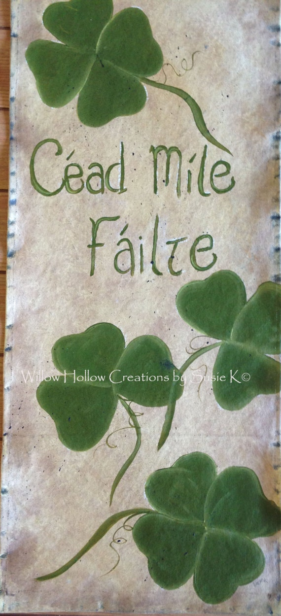 Irish Welcome Banner - Made to Order