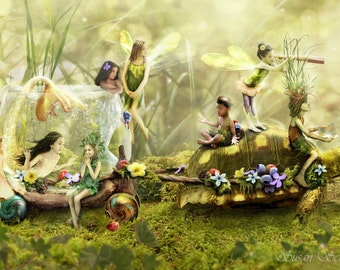 Terwilliger's Caravan by Susan Schroder - Mythic Fantasy Art Print and Poster