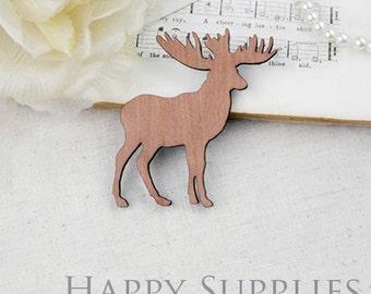 2Pcs Large Handmade Lovely Deer Charms / Pendants (LC023)