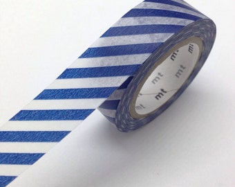 Navy Washi Tape Diagonal stripe Japanese
