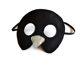 Kids Black Bird  Mask, Halloween or Carnival Dress up Accessory for Children, Pretend Play Toy for Girls Boys, Toddlers