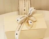 """Ribbon, Handmade With Love Ribbon, 3/4"""" wide Homemade Food Gift Ribbon, Holiday Food Gifts,"""