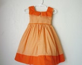 Vintage Orange Party Dress, Size 12 Months