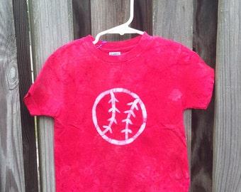 Kids Baseball Shirt, Baseball Kids Shirt, Boys Baseball Shirt, Girls Baseball Shirt, Red Baseball Shirt, Toddler Baseball Shirt (3T)
