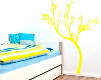 Wavy Dot Tree - Trees and Branches Wall Decals