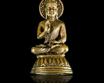 Buddha Pendant, Brass Buddha Pendant, Tribal Jewellery, Charm Pendant, Tribal Pendant, Ethnic Pendant, Ethnic Jewelry