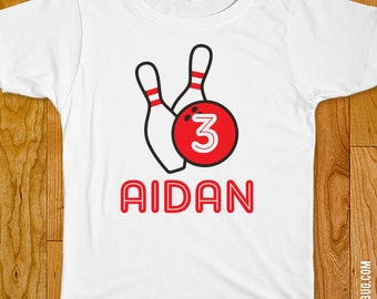 Bowling Party Iron-On Shirt Design - Choose child or onesie size