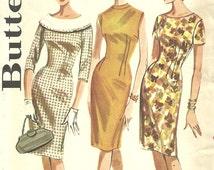 Butterick 2137 Vintage 60s Sewing Pattern // Dress // Size 16 Bust 36