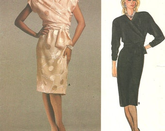 Vogue 1562 Vintage Designer Sewing Pattern By Adele Simpson // Wrap Dress Size 10