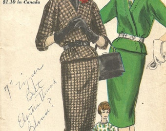 Vogue 5083 Vintage Sewing Pattern // Skirt Blouse Jacket Suit // Size 12 Bust 32