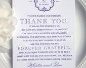 Printable Wedding Thank You Card - Vintage Frame- Style TY2    Wedding Thank You   Elegant Thank You   Purple Thank You