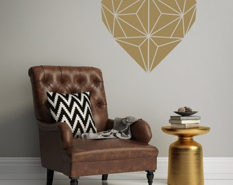 Mid Century Wall Decor Geometric Wall Decal Apartment Wall