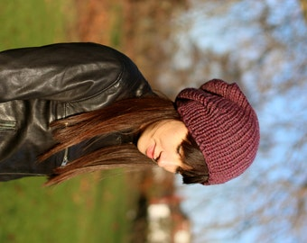 Slouchy Beanie Womens Slouchy Knit Beanie Hand Knit Slouchy Hat Winter Accessories