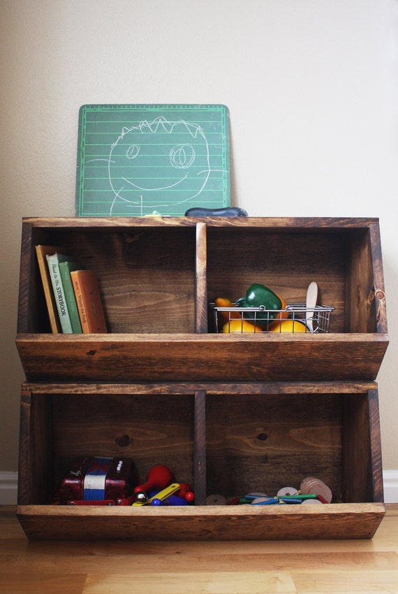 Toy Storage Bins Woodworking Plans | Etsy