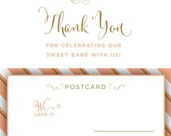 Sweet Bebe Thank You Postcard