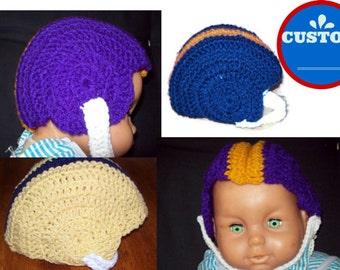 Football Helmet Baby, Toddler, Made To Order Available In 3 Sizes Custom Made Super Bowl Helmet