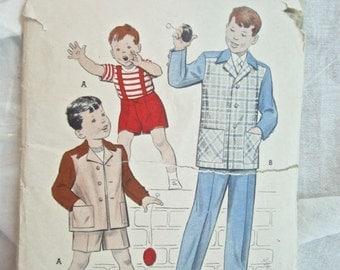 Butterick 6035 Boys Suit Jacket Pants & Overalls Vintage Sewing Pattern