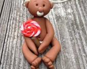 Polymer clay Christmas ornament baby