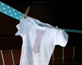 Boy's Gray Tie Shirt or Bodysuit Baby Boy Tie Shirt or bodysuit Grey Tie shirt,baby boy shower gift,coming home outfit,baby wedding shirt
