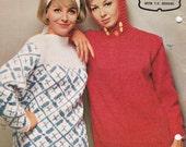 60s Vintage Womens Knitting patterns booklet Patons 698 MOD Australian Patterns ORIGINAL Paper Patterns Not PDF
