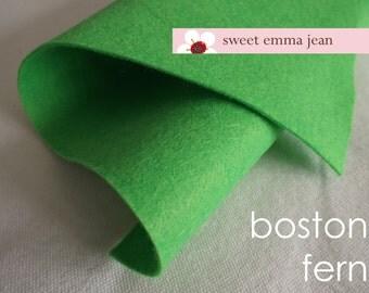 Wool Felt 1 yard cut - Boston Fern - Green Wool Blend Felt