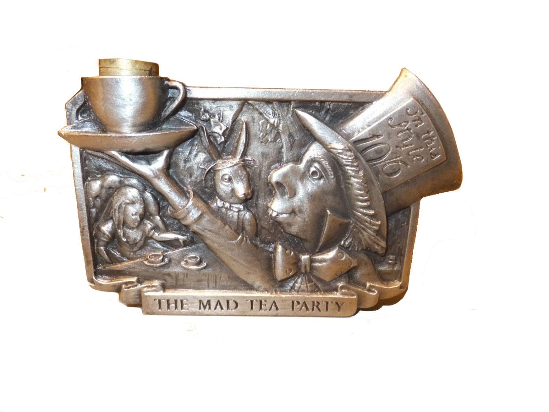 Vintagetrafficusa Hidden Pipe The Mad Hatter Tea Party Belt Buckle