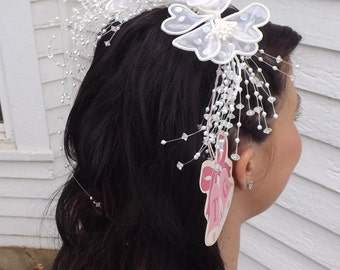 Vintage Bridal Hair Comb Wedding Hairpiece Bride Hair Head Adornment T & G 80s