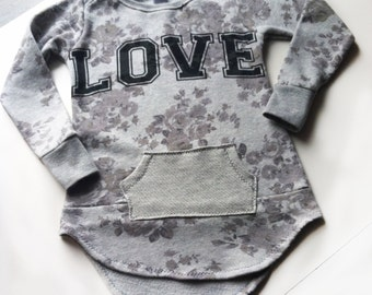 LOVE Toddler Girls size 4T Long Sleeve Tunic