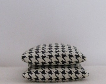 Black and White Houndstooth Sachets, For the Man, Masculine Print, Father's Day Gift