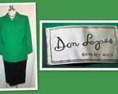 1950s Don Loper Beverly Hills Kelly Green Vintage Jacket