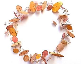 Original Necklace - Parchment leather - German Design