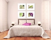 bedroom art purple floral picture set living room wall art four 8x10 photographs flower photography botanical wall decor prints home decor