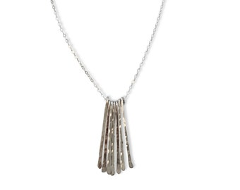 Silver Fringe Necklace - Delicate Sterling Silver, Gold Filled, or Rose Gold Handmade Fringe Everyday Necklace / Different Strokes Necklace