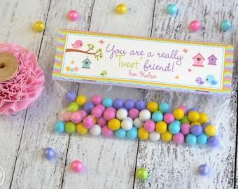 Easter Spring Treat Bag Topper / Easter Treat Bag Toppers / Tweet Friend Treat Bag Toppers / Spring Treat Topper / Bird Treat Bag Topper