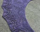 Pattern Only Teahouse Crescent Shaped Lace Shawlette or Scarf