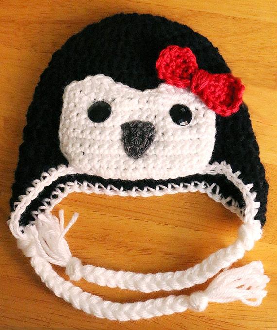 Free Crochet Pattern For Penguin Hat : Crochet Penguin Hat Baby Penguin Hat Halloween by dsgnGrl