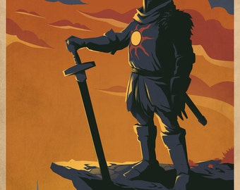 PRAISE THE SUN Video Game Poster Art