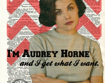 Twin Peaks Audrey Horne Dictionary Art Print