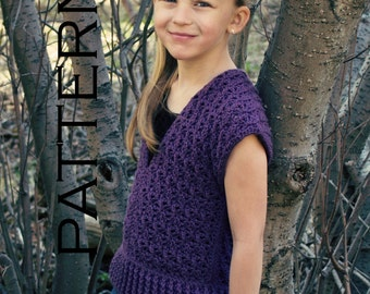 Lexi Pullover Crochet Pattern - PDF