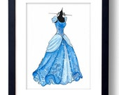 Princess Cinderella  Disney Watercolor - Fine Art Sketch Print