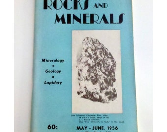 1956 Rocks & Minerals Magazine, Vol. 31 No. 5-6, Official Journal of the RMA, Mineralogy, Geology, Lapidary, May-June