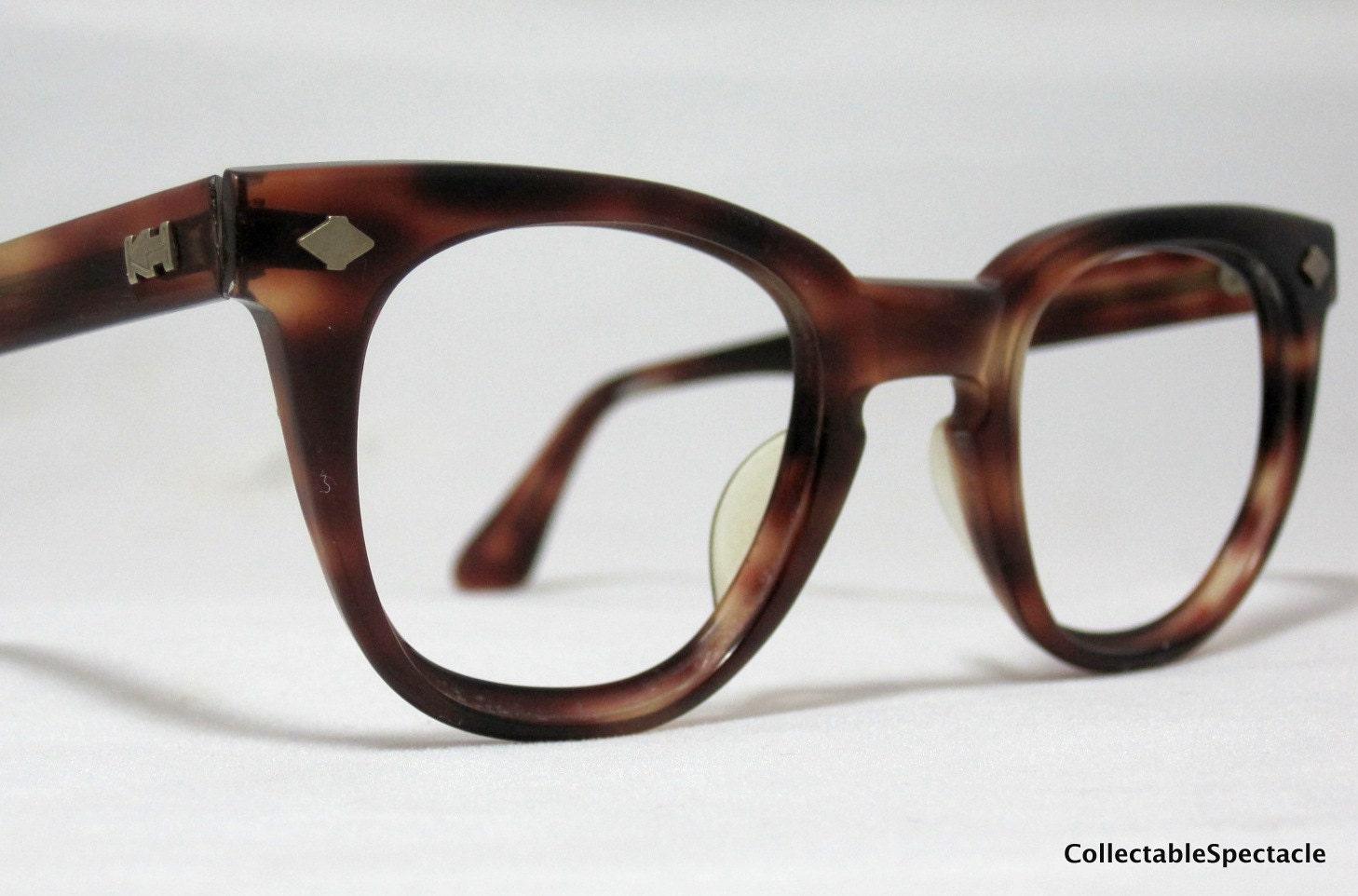 vintage eyeglasses mens 50s 60s tortoise by