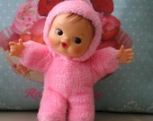 Cute Adorable Vintage children's pink pram baby doll*RESERVED*