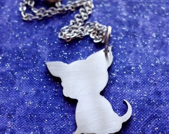 Chihuahua Dog Necklace Key Chain or Pendant