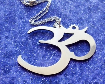 Stainless Steel OM - Necklace Pendant or Keychain