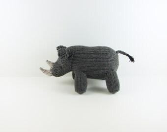 Hand Knit Rhino- Small