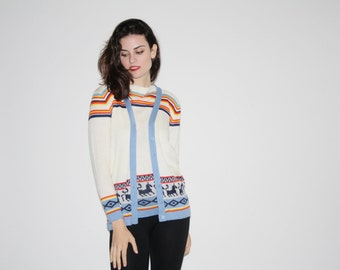 1970s Sweater Set   - Vintage 70s Sweater Sets  - Vintage 70s Sweaters - The Ski Trip Sweater - 6282
