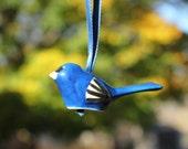 Million Birds of Hope* Indigo Bunting Ornament, Christmas Ornament, Bird Ornament